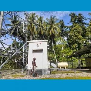 Tower Telkom di Pulau Kapotar