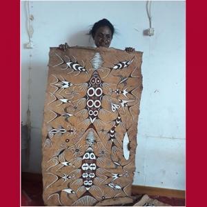 Lukisan kulit kayu di Papua