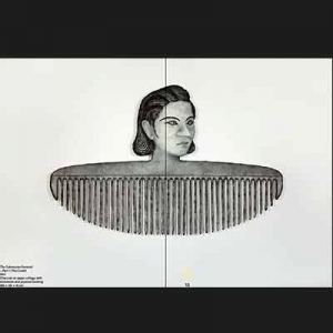 The Submissive Feminist – Part 1 (The Comb) 2021 Charcoal on paper collage with aluminium and plywood backing 208 × 132 × 10 cm