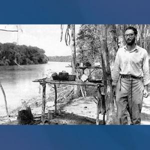 Claude Levi-Strauss di sungai Amazon Brazil