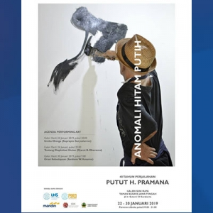 Poster pameran karya Putut H. Pramana