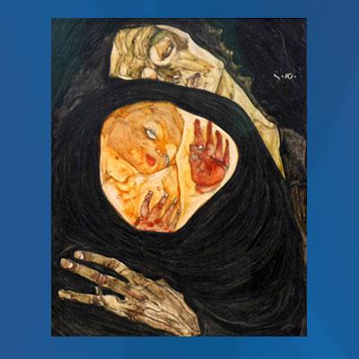 Dead Mother, 1910 karya Egon Schiele