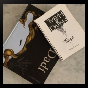 "Manuskrip buku puisi ""Tubuh dan Darah"" dan salah satu buku Eddy Soetriyono, ""The Arts of Dadi - Treasure on Mirror"