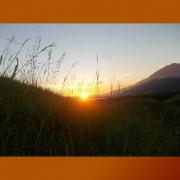 Matahari terbenam di Situs Yomokho